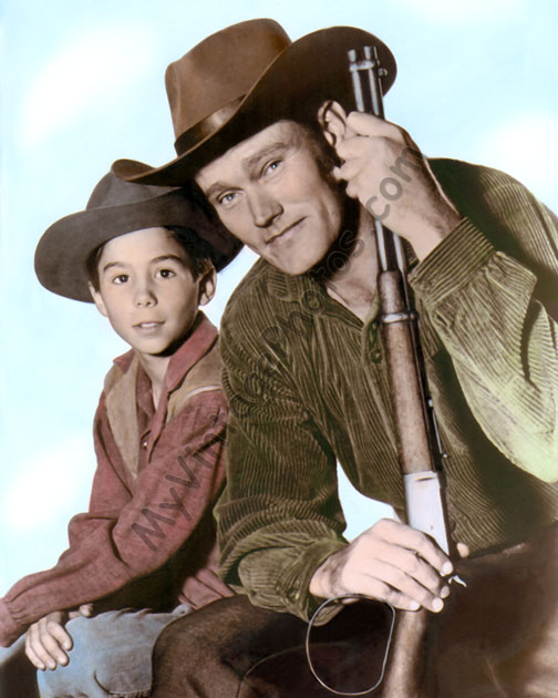 The Rifleman Chuck Connors Johnny Crawford Myvintagephotos